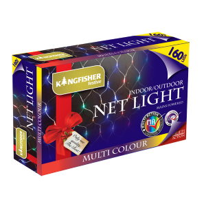 Bright Multi Coloured Net Indoor & Outdoor 160 LED Multi Action Christmas Tree & Window Lights